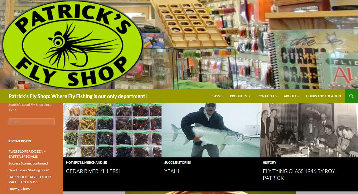 Web development studio30 for Seattle fly fishing shops
