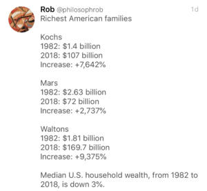 Obscene wealth